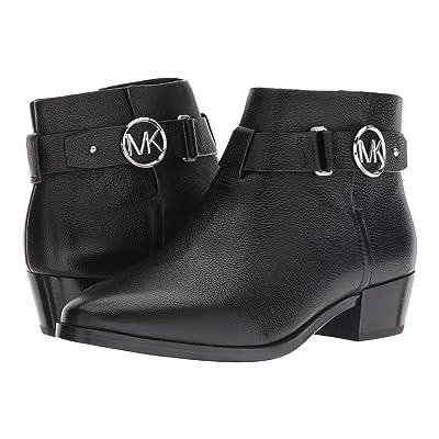 MICHAEL Michael Kors Harland Bootie (Black Tumbled Leather) Women