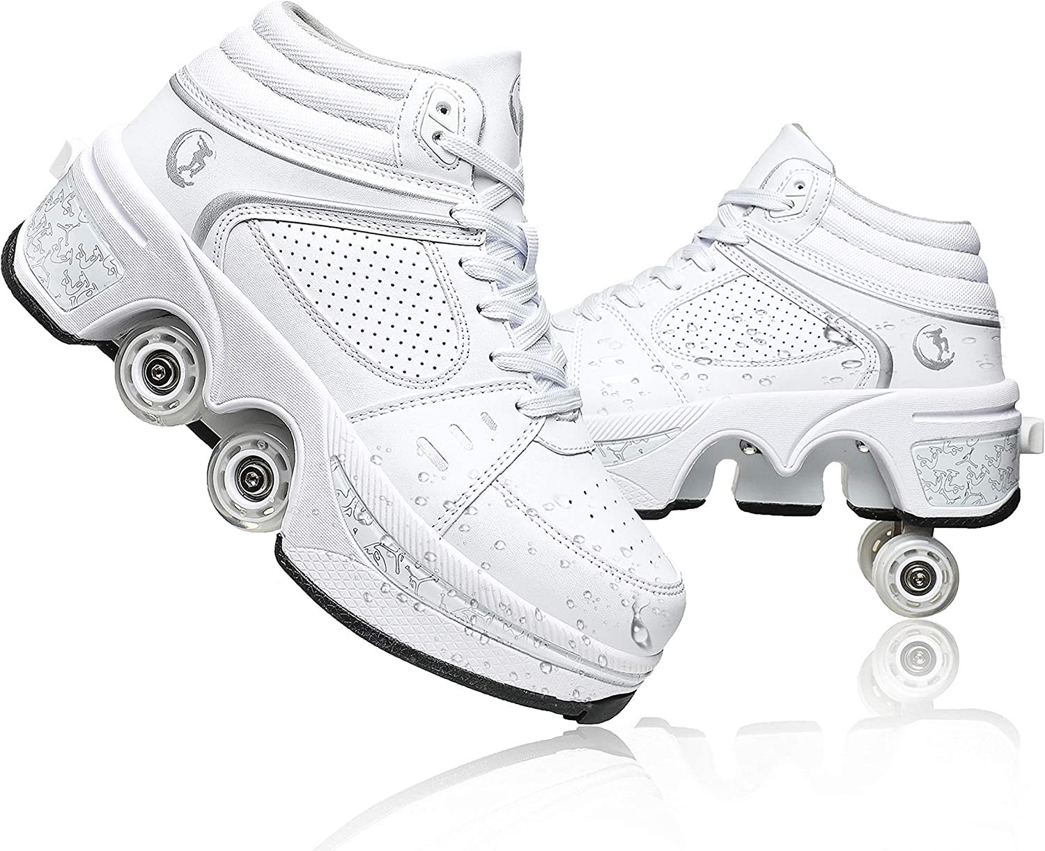 YOUSIOI Invisible Roller Outlet sale feature Skate Automatic Clearance SALE! Limited time! Walking Shoes 2-in-1 P