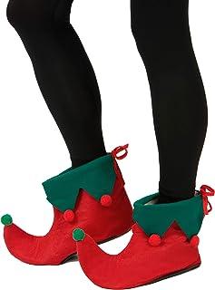 eb8e1a86be16e Generique - sur-Chaussures Elfe avec Pompons Adulte