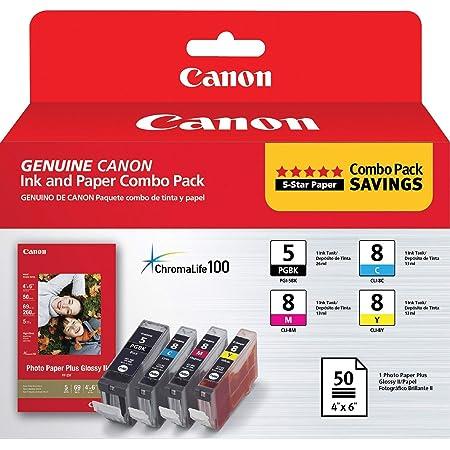 Canon PGI-5/CLI-8 With Photo Paper,Cyan