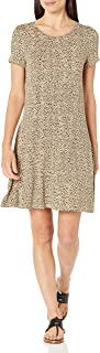 Women's Short Sleeve Scoopneck A-line Dress