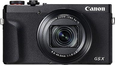 Canon PowerShot G5 X Mark II Digitalkamera (20,1 MP, 5-fach optischer Zoom, 7,5cm (3 Zoll) Display, klappbar, DIGIC 8, EVF, 4K, Full-HD, WLAN, Bluetooth, Blendenautomatik; Zeitautomatik) schwarz