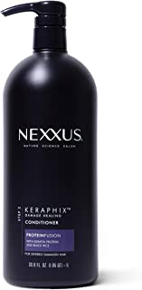 Nexxus Conditioner for Damaged Hair Keraphix with ProteinFusion Silicone-Free Conditioner with Keratin Protein and Black Rice 33.8 oz