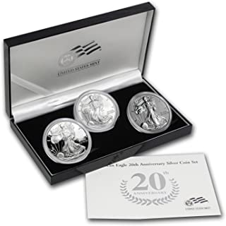 2006 silver eagle 3 coin set