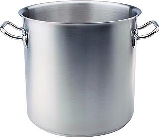 Ollas Agnelli Alta Pot con Dos Asas, de Acero Inoxidable 18/10, de 50 litros, de Plata
