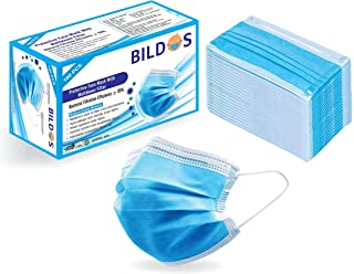 Bildos Melt-Blown Fabric Face Mask With Nose Clip(Blue, Pack of 100) for Unisex