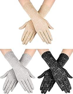 Anti UV Gloves Full Finger Summer Gloves for Driving Hiking Riding (Set 4)