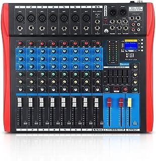 XTUGA ES USB/MP3/Bluetooth Professional DJ Mixer Stage Audio Mixer Built-in Digital Effect Mixer Music Mixer 8/12 Channels...