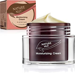 Sponsored Ad - Nature Nut Moisturizing Face Cream - Vegan rich formula based on Hyaluronic Acid, Jojoba Oil & Chia Seeds. ...