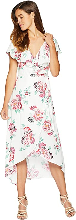 Pretty Petals Wrap Front Dress