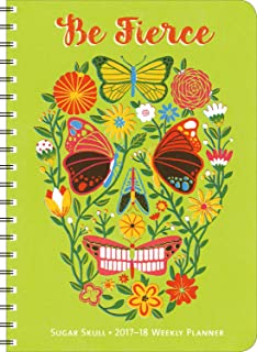 Sugar Skull 2017 – 2018 On-the-Go Weekly Planner: 17-Month Calendar with Pocket