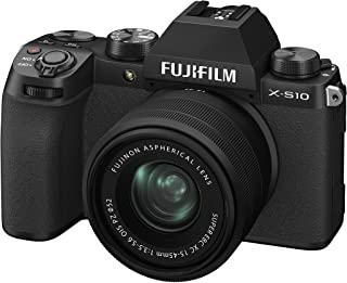 Fujifilm X-S10 Mirrorless Digital Camera XF15-45mm Lens Kit - Black