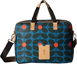 Sixties Stem Vinyl Luggage Work Bag