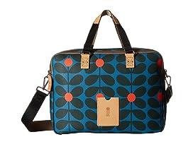 Sixties Stem Vinyl Luggage Work Bag
