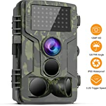 FHDCAM Trail Game Camera 1080P HD Waterproof Scouting Camera, 120°Wide Angle PIR Sensor Motion Activated Night Vision Hunting Camera for Wildlife & Home - New Version