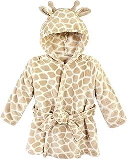 Hudson Baby Dziecięcy chłopcy unisex pluszowy szlafrok na basen i plażę okrycie, szlafroki z żyrafy, 6-12 miesięcy