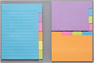 Sticky Notes by Panda Planner - Bookmark, Prioritize and Set Goals with Color Coding - 60 Ruled Lined Notes (4x6