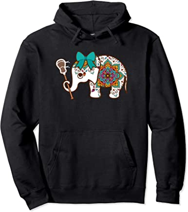 d6e29be0 Elephant Lacrosse Hoodie - Elephant Lax Girl Hoodie