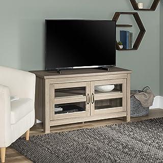 WE Furniture 2 Door Cabinet Corner Wood Universal Stand...