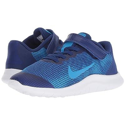 Nike Kids Flex Run 2018 (Little Kid) (Deep Royal Blue/Blue Hero/White) Boys Shoes