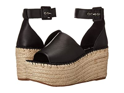 Free People Coastal Platform Wedge (Black) Women