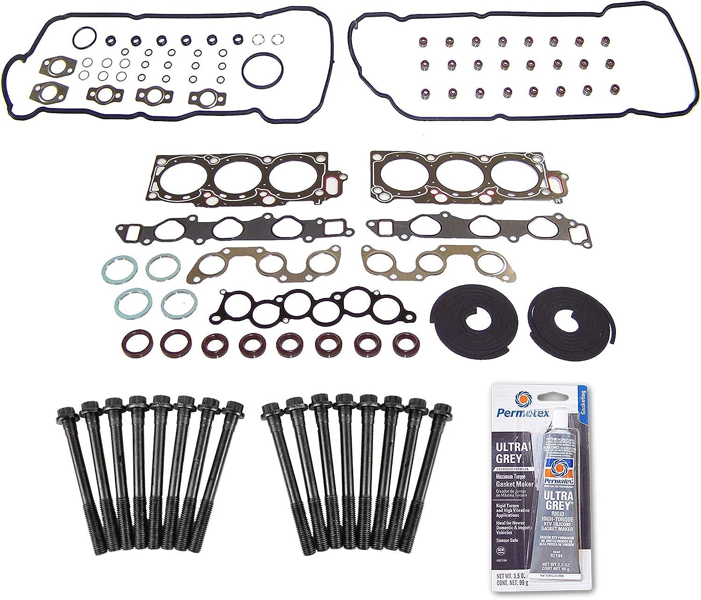 Head Gasket Set Bolt Kit Fits: Toyota 定価の67%OFF E Camry 正規品 94-99 Avalon Lexus