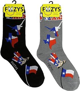 Foozys Womens Crew Socks   Cute Beautiful Outdoors Themed Novelty Socks   2 Pair