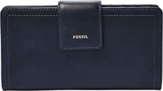 Fossil womens Logan Tab Clutch Wallet Logan Rfid Tab Wallet