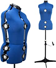 """13 Dials Female Fabric Adjustable Mannequin Dress Form for Sewing, Mannequin Body Torso with Tri-Pod Stand, Up to 70"""" Shoulder Height. (Medium)"""