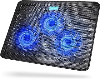 TECKNET Refroidisseurs PC Portable Ordinateur de 12 à 17 Pouces Silencieux Support Ventilé pour Ordinateur Portable avec 2...