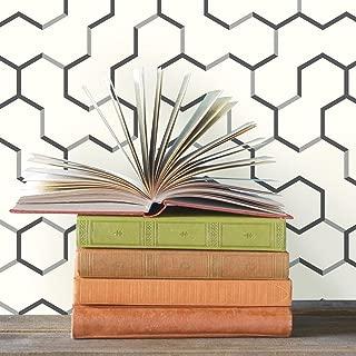 RoomMates Gray Open Geometric Peel and Stick Wallpaper
