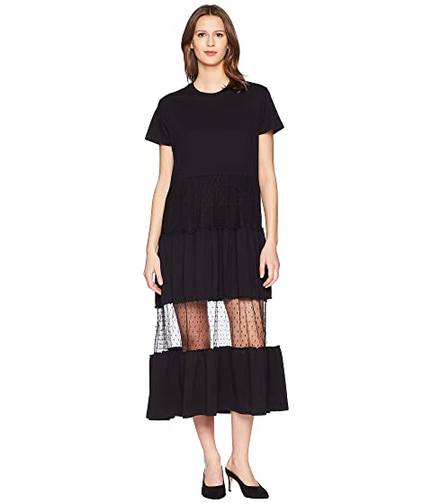 88d1c9b7b22a RED VALENTINO Cotton Jersey and Point D'Esprit T-Shirt Dress at 6pm