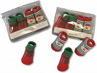 PinkBlueWhite, Calcetines de Navidad para bebé, 2 pares