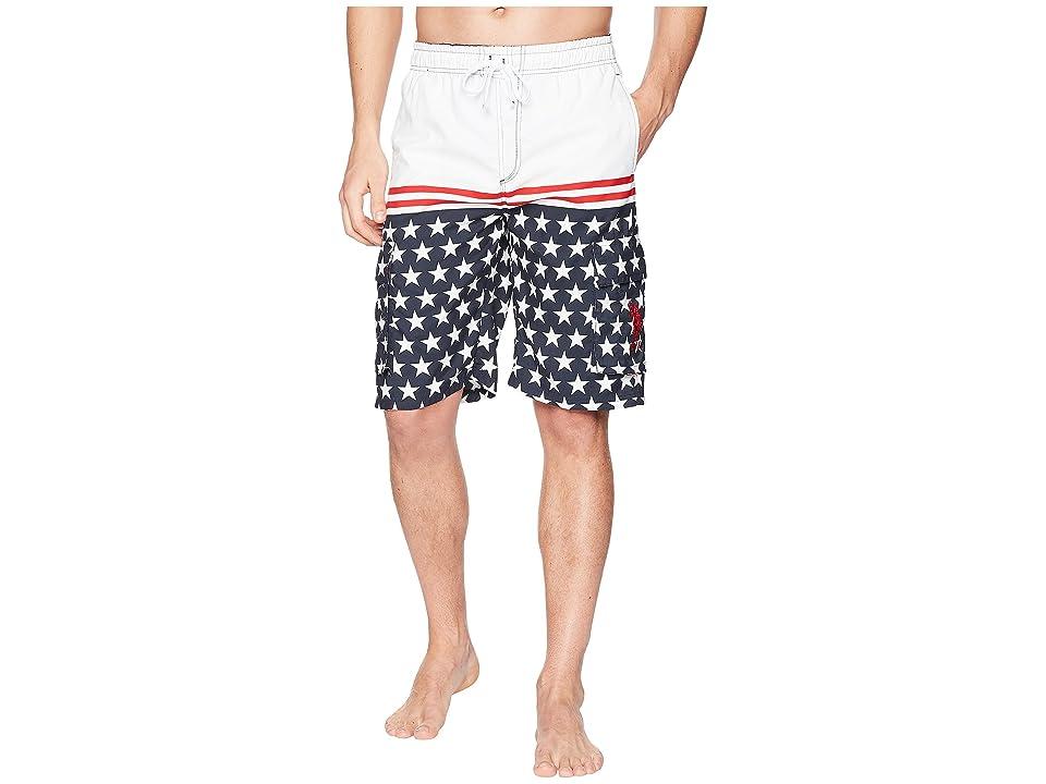 U.S. POLO ASSN. 11 Patriot Cargo Swim Shorts (Classic Navy) Men
