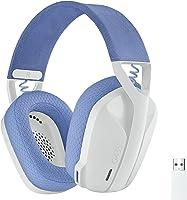 Logicool G 罗技 G 游戏耳机 G435 LIGHTSPEED & Bluetooth 无线 耳机/轻量 165克 / 内置麦克风 / 连续使用18小时/ Dolby Atmos对应/PC PS4 PS5 智能手机 G435WH 国内正品