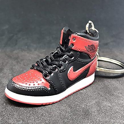 46fee929c37 Air Jordan I 1 Retro High Bred Black Red OG Sneakers Shoes 3D Keychain  Figure