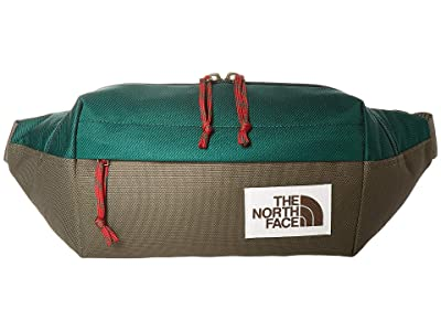 The North Face Lumbar Pack (Night Green/New Taupe Green) Travel Pouch