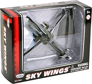 Richmond Toys 1:100 Scale Sky Wings Modern Boeing AH-64 Apache Longbow Helicopter Die-Cast Model with Authentic Details