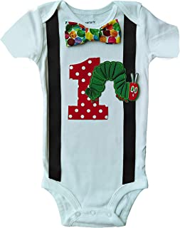 Baby Boys 1st Birthday Hungry Caterpillar Bodysuit