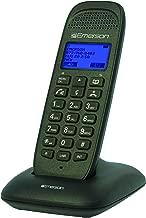 Emerson EM7000 Dect_6.0 1-Handset 4-Line Landline Telephone, Black
