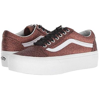 Vans Old Skool Platform ((Glitter) Bronze/True White) Skate Shoes