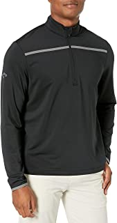 Callaway Men's Golf Chest Stripe Long Sleeve 1/4 Zip Mock Pullover