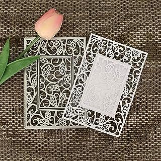 yanQxIzbiu 2018 Newest Metal Die Book Cover Metal Cutting Die DIY Scrapbooking Decor Paper Card Embossing Stencil Silver