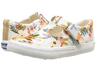 Keds x Rifle Paper Co. Kids Rifle Paper Daphne (Toddler/Little Kid) (Lively White) Girl