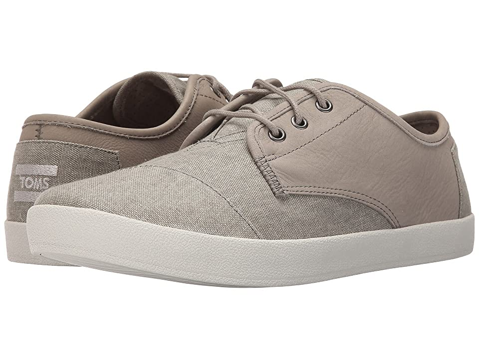 TOMS Paseo (Taupe Leather/Washed Canvas) Men