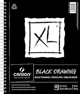 """دفتر رسم اسود من سلسلة اكس ال من كانسون 9"""" x 12"""" 400077428"""