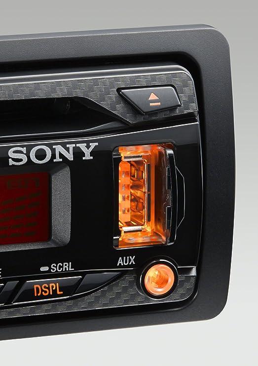 Sony Cdx G1002u Autoradio Mit Cd Player Schwarz Elektronik