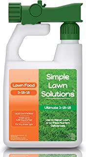 Ultimate 3-18-18 NPK- کودهای مایع طبیعی مواد غذایی چمن- اسپری غلیظ- هر نوع چمن- مواد مغذی تابستانی و پاییزی- راه حل های ساده چمن ، 32 اونس- سبز ، رشد ، رشد ریشه ، سلامتی و قدرت