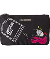 LOVE Moschino - Logo Clutch w/ Strap