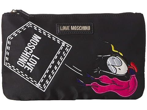 LOVE Moschino Logo Clutch w/ Strap